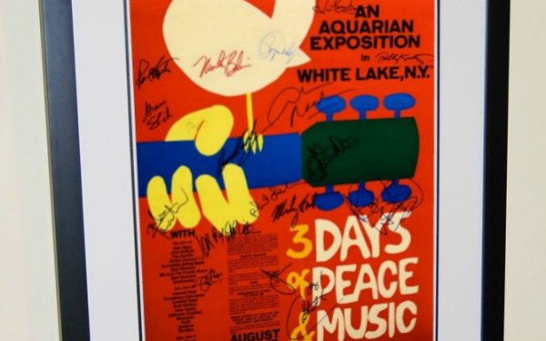 Woodstock Signed Poster