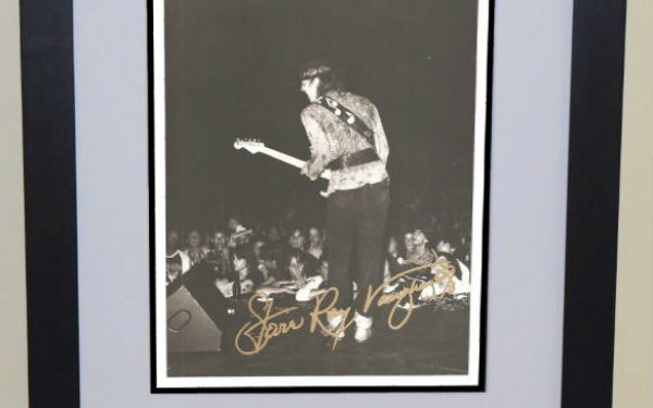 #5-Stevie Ray Vaughan Signed 8×10 Photograph