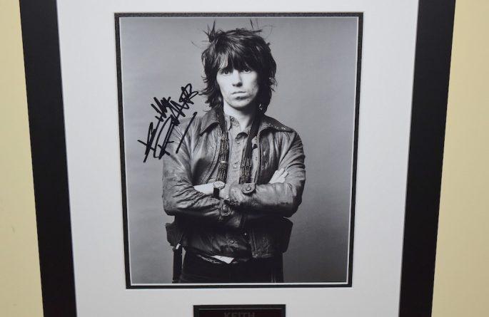 #11-Keith Richards Signed 8×10 Photo