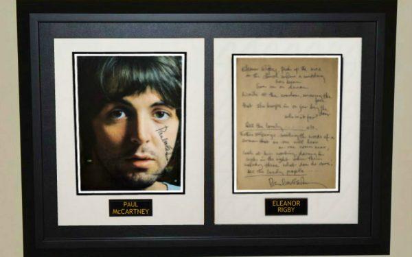 #11 – Paul McCartney 8×10 Photograph and hand written lyrics