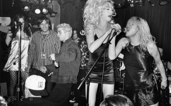EEvan Dando, Billie Joe Armstrong, Mistress Formika & Courtney Love, NYC, 1994