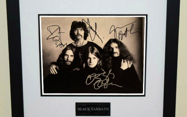 #3-Black Sabbath Signed 8×10 Photograph