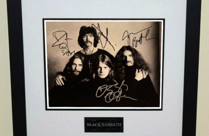 #3-Black Sabbath Signed 8×10 Photograph