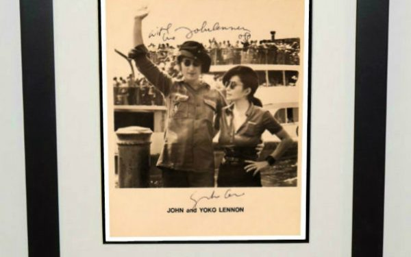 #3-John Lennon Signed 8×10 Photograph