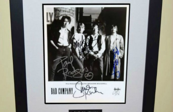 Bad Company Signed 8×10 Photograph