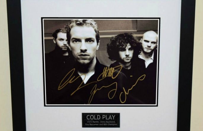 #2-Cold Play Signed 8×10 Photograph