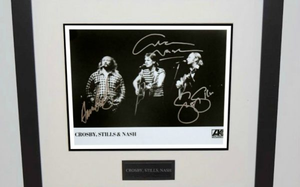 #3-Crosby, Stills, Nash Signed 8×10 Photograph