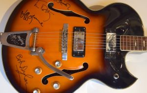 The Traveling Wilburys Signed Ventura Bigsby Electric Guitar