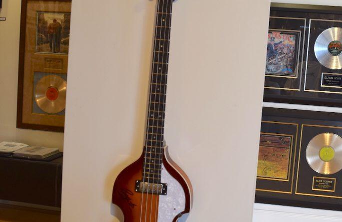 Paul McCartney Signed Hofner Bass