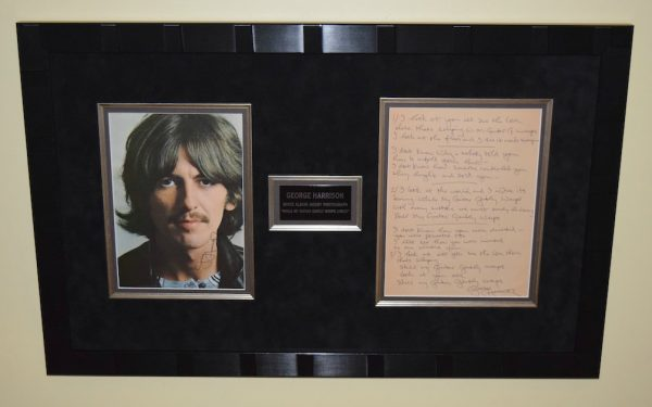 George Harrison Signed Photograph
