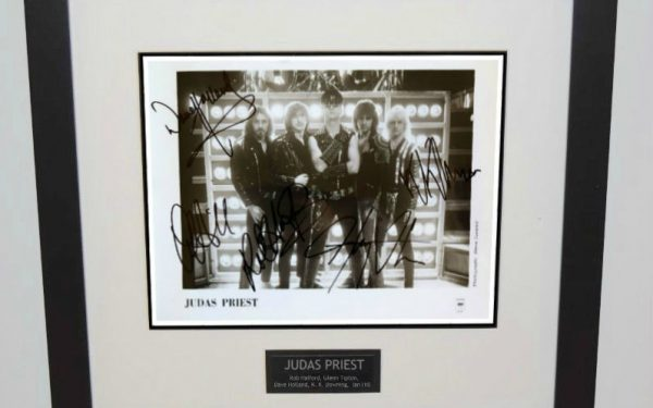 Judas Priest Signed 8×10 Photograph