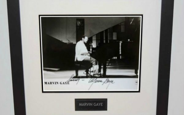Marvin Gay Signed 8×10 Photograph