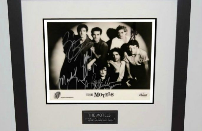 Motels Signed 8×10 Photograph
