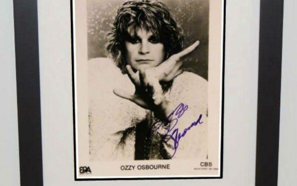 #6-Ozzy Osbourne Signed 8×10 Photograph