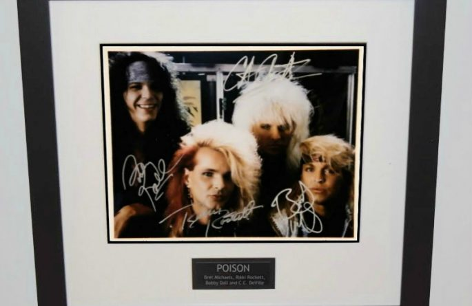 #2 Poison Signed 8×10 Photograph