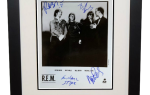 R.E.M. Signed 8×10 Photograph