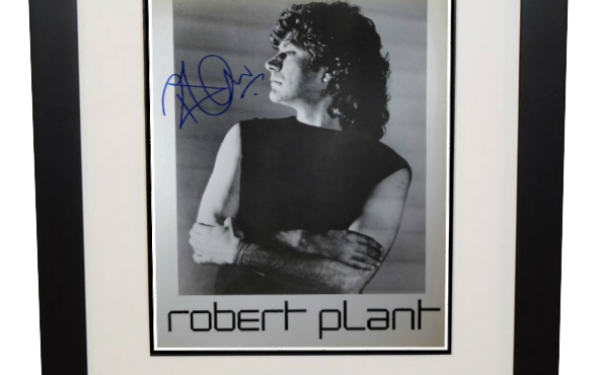 #2-Robert Plant Signed 8×10 Photograph