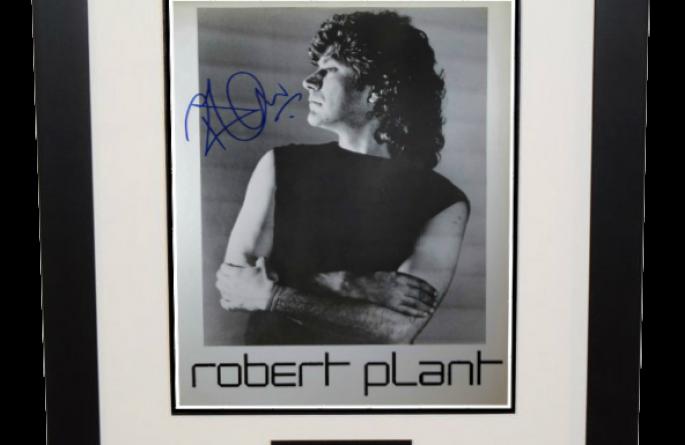 #2-Robert Plant Signed 8×10 Photograph