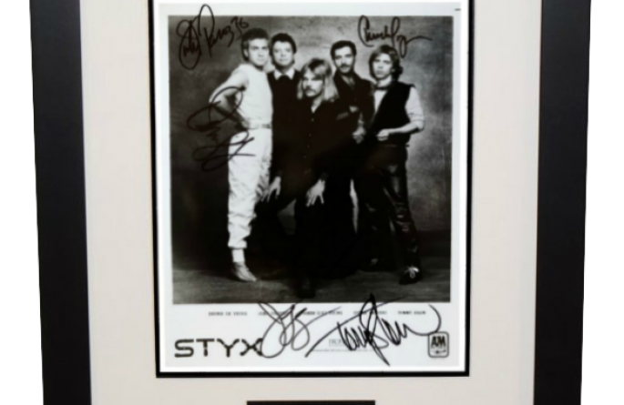 Styx Signed 8×10 Photograph