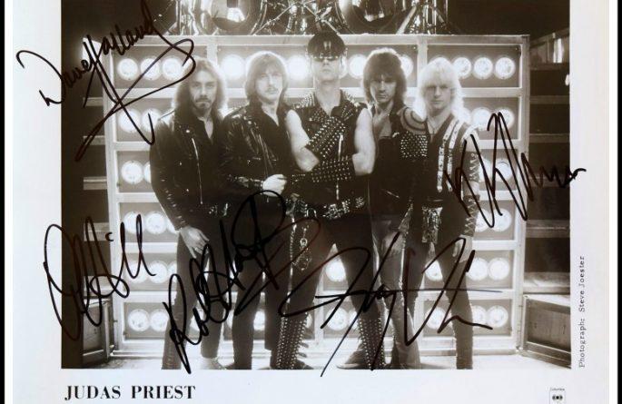 Judas Priest Signed 8×10 Photograph