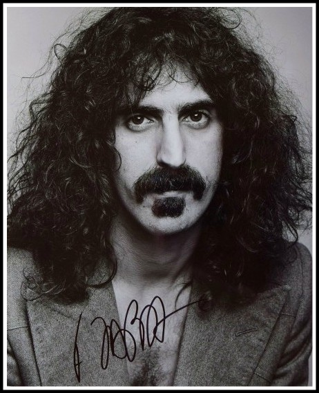 frank zappa hand signed collectibles rock star gallery signed photosrock star gallery. Black Bedroom Furniture Sets. Home Design Ideas