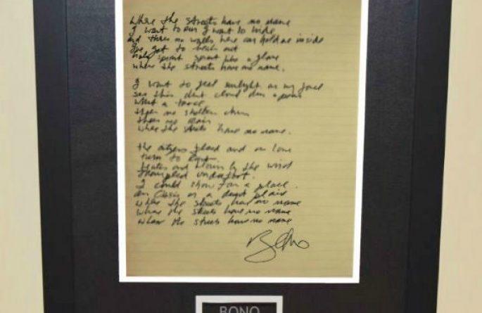 Bono – Where The Streets Have No Name