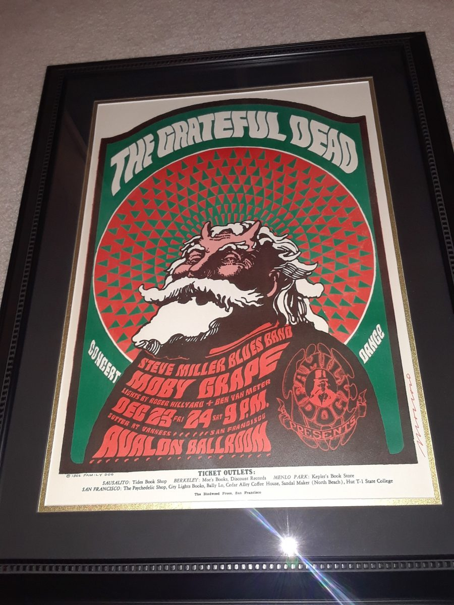 Grateful Dead Vintage Concert Poster Rock Star