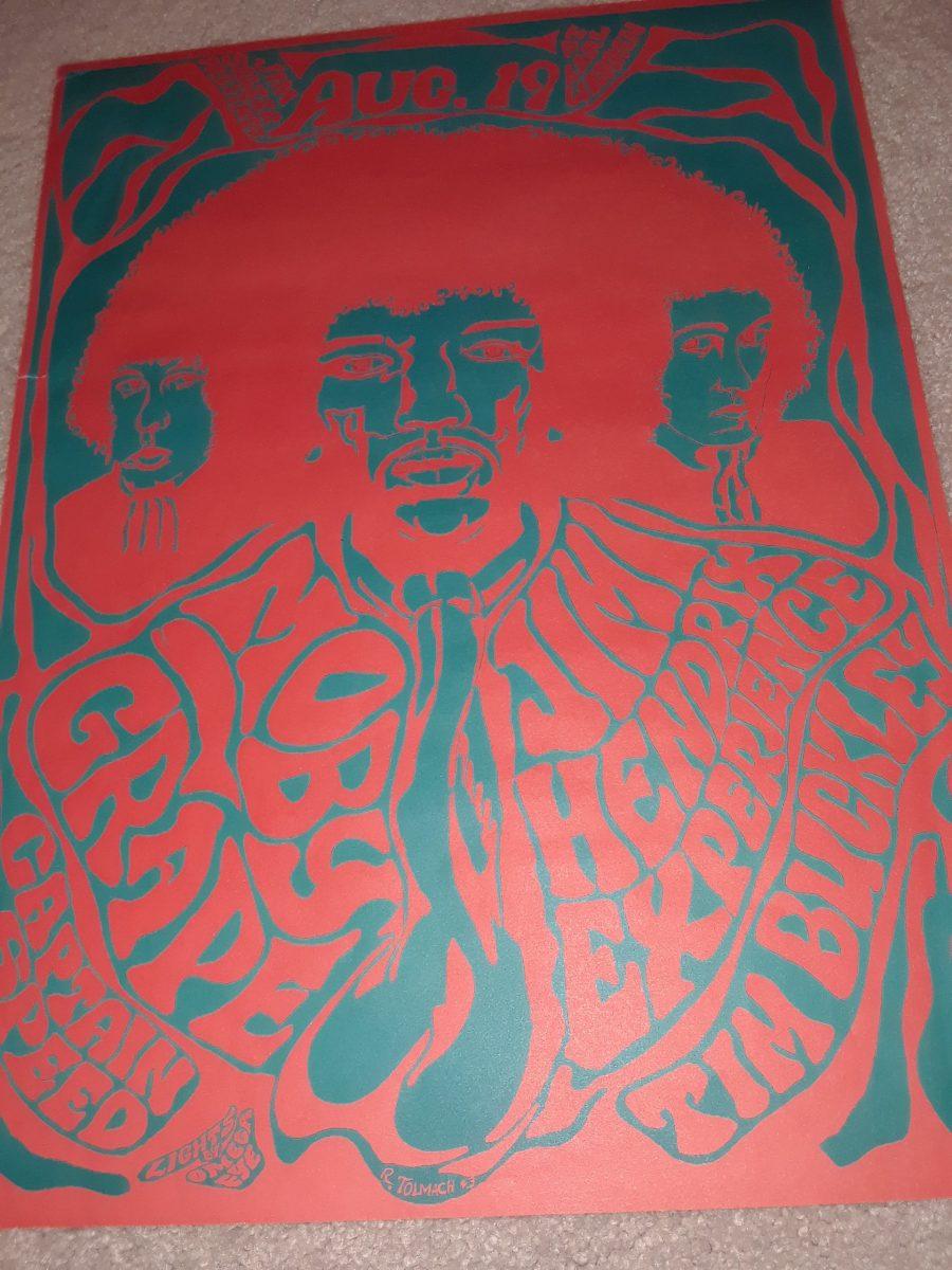Jimi Hendrix Vintage Concert Poster Rock Star Gallery