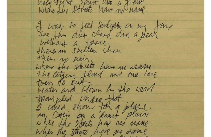 U2 – Bono – Where The Streets Have No Name