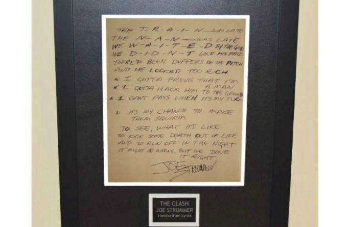 Joe Strummer – Handwritten Lyrics