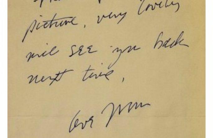 John Lennon – Handwritten Letter