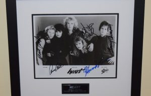 #1-Heart Signed 8×10 Photograph