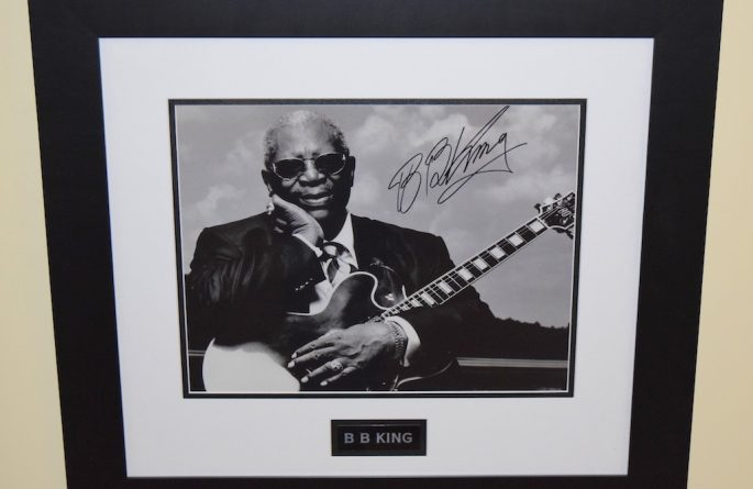 #5-BB King Hand Signed 11×14 Photograph