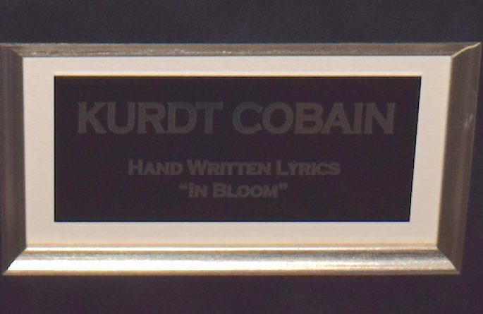 Nirvana – Kurdt Cobain – In Bloom