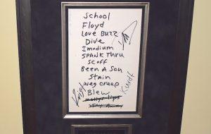 Signed Sheet Music and Lyrics
