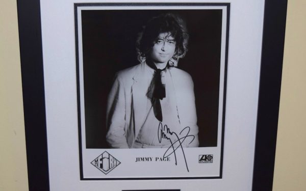 #4 – Jimmy Page Signed 8×10 Photograph