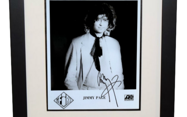 #4 – Jimmy Page Signed Photograph