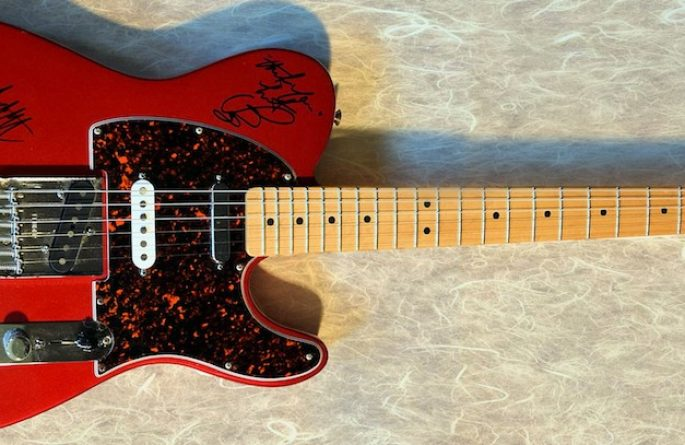 Rolling Stones Red Fender Telecaster