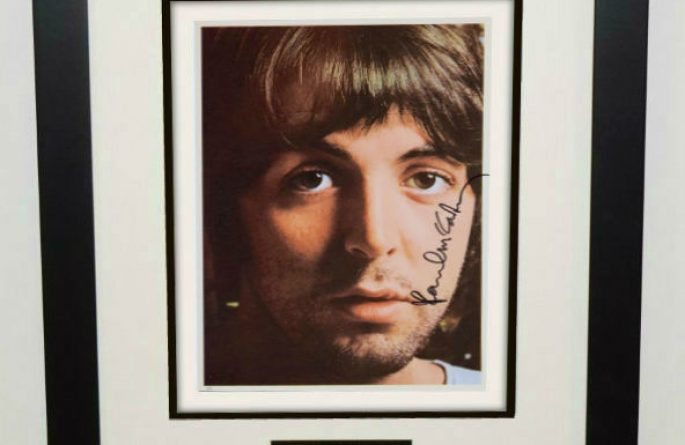 #7-Paul McCartney Signed 8×10 Photograph
