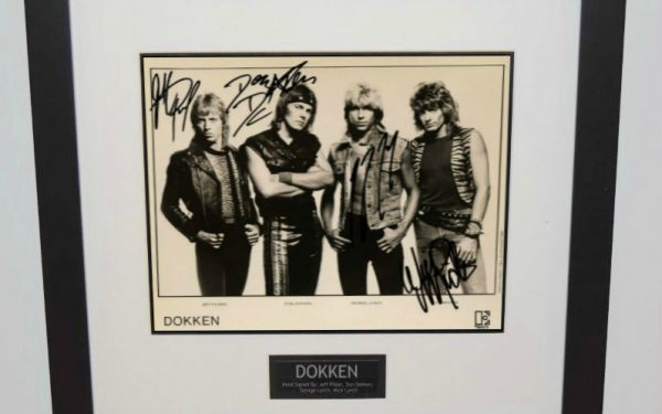 Dokken Signed 8×10 Photograph