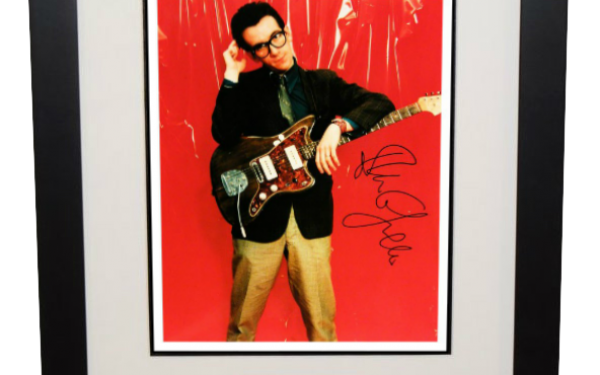 Elvis Costello Signed 8×10 Photograph
