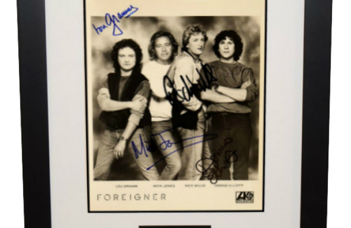 #1-Foreigner Signed 8×10 Photograph