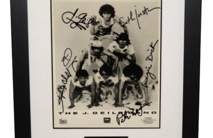 J. Geiles Band Signed 8×10 Photograph