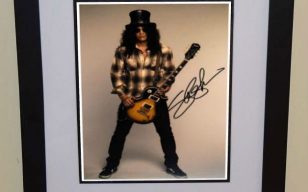 #6-Slash Signed  8×10 Photograph