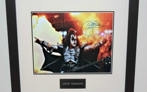 Gene Simmons Signed 14×20 Photograph