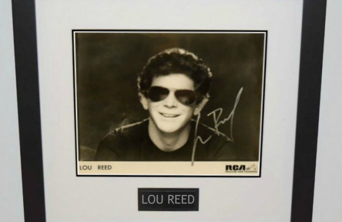 Lou Reed Signed 8×10 Photograph