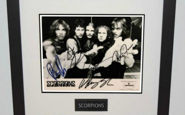 Scorpions Signed 8×10 Photograph