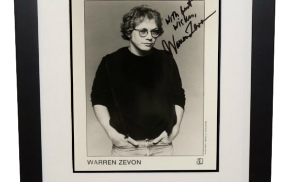 Warren Zevon Signed 8×10 Photograph