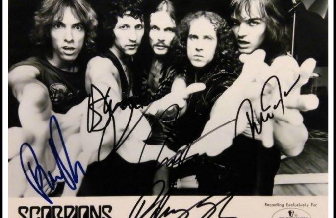 Scorpions Signed 8×10 Photograph