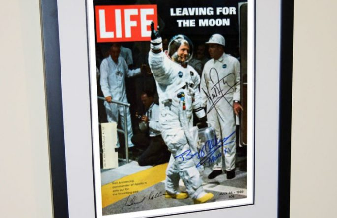 Life Magazine –  Leaving for The Moon Signed Cover